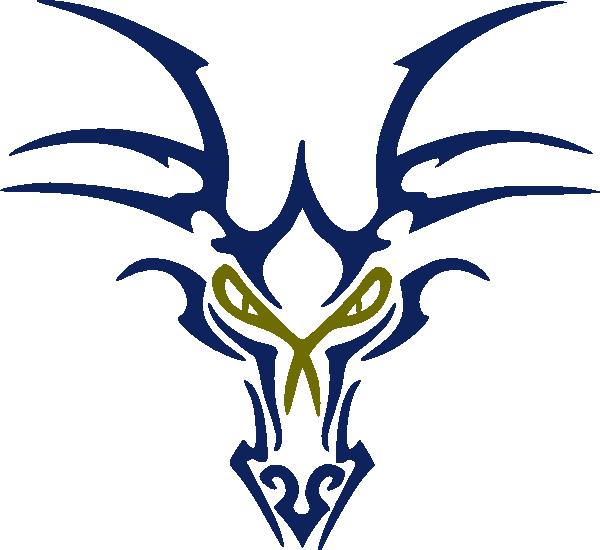 Blue head clip art. Dragon clipart dragon symbol