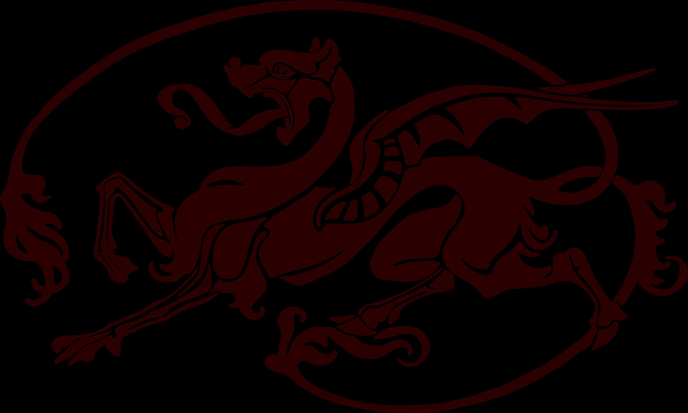 Art nouveau. Dragon clipart vintage