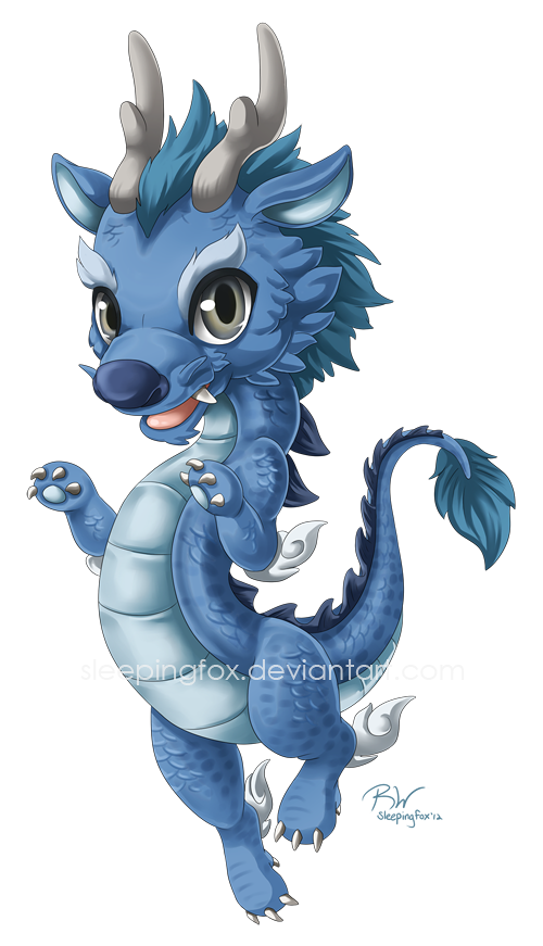 Water commission by sleepingfox. Dragon clipart smaug