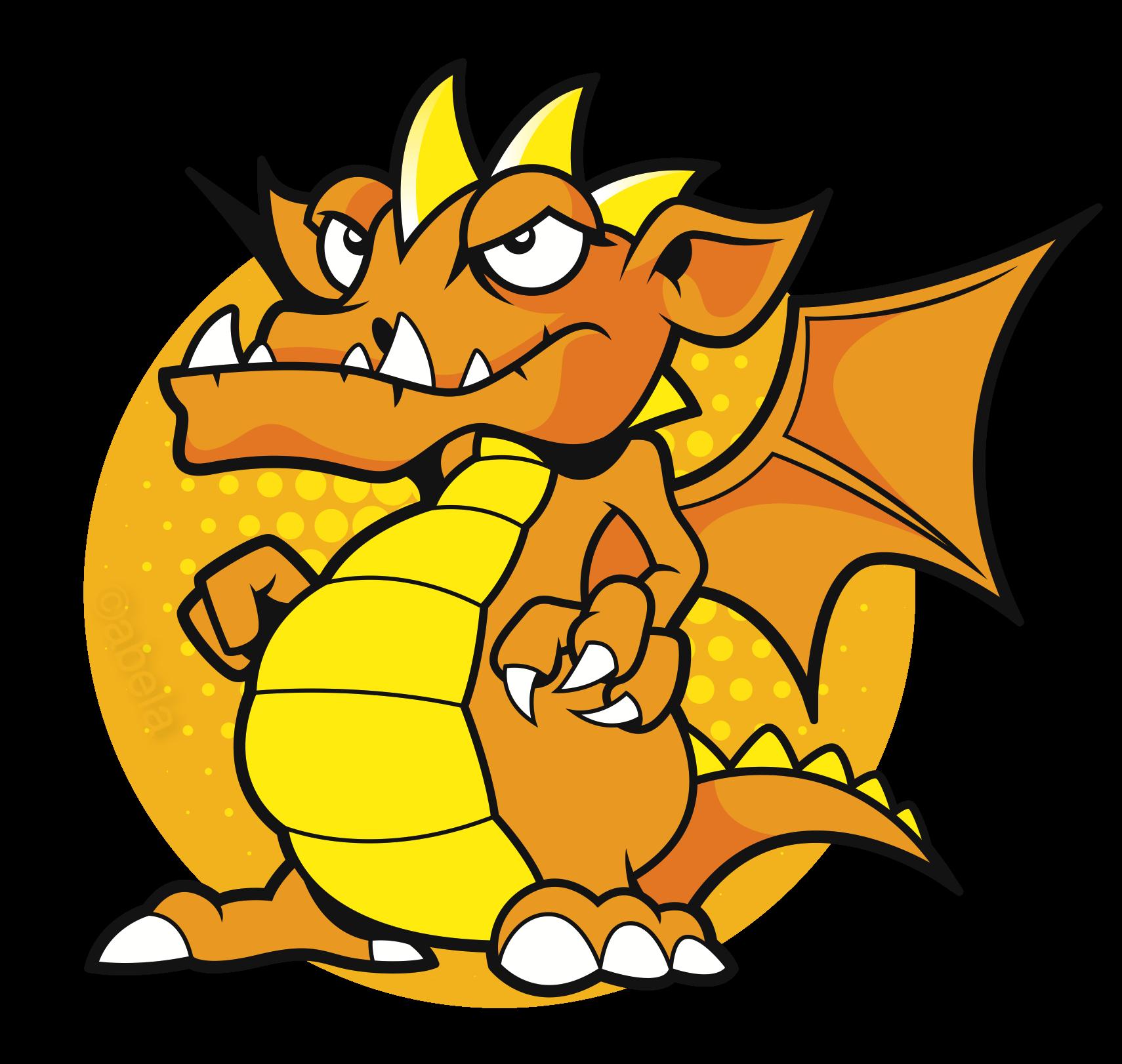 Clipart dragon yellow. North staffs mind