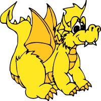 Clipart dragon yellow. Cliparts zone