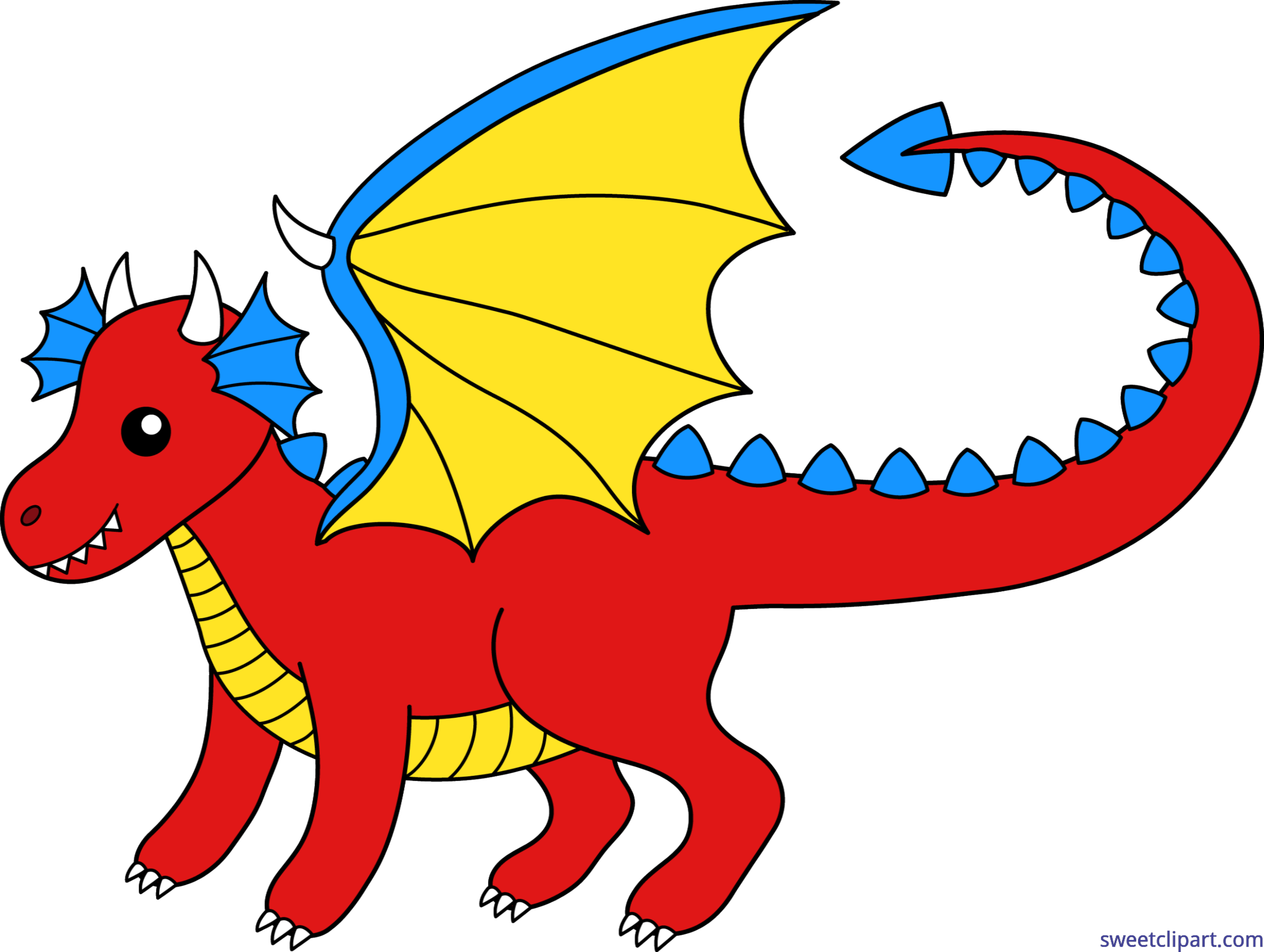 Red clip art sweet. Clipart dragon yellow