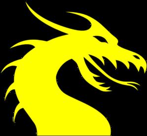 Clip art at clker. Clipart dragon yellow