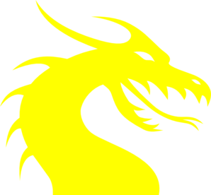 Clip art at clker. Dragon clipart yellow