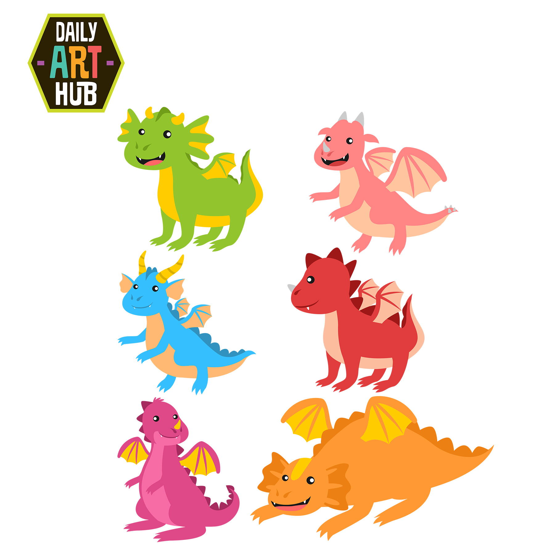 Clipart dragon. Cute dragons clip art