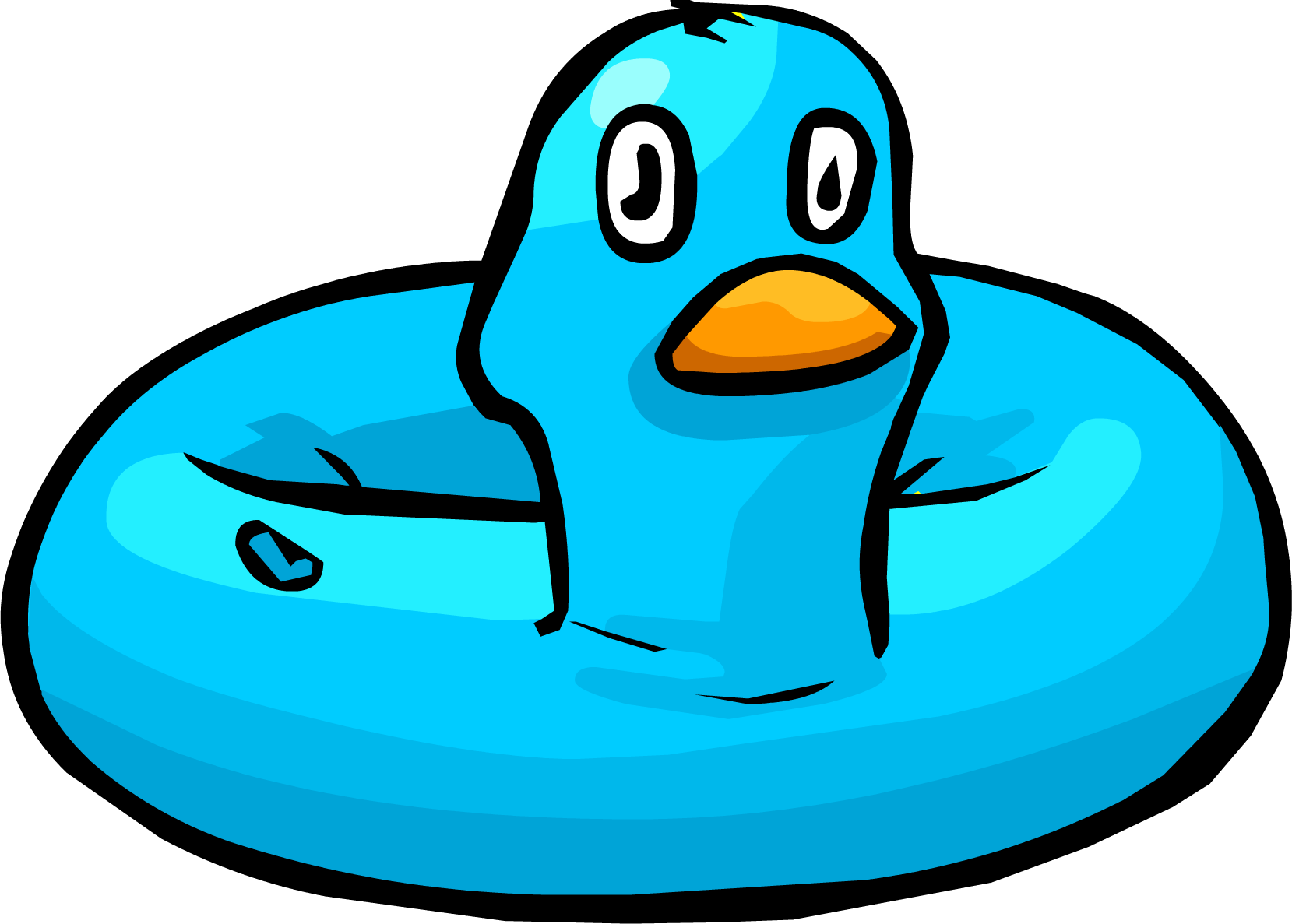 Blue club penguin wiki. Costume clipart duck