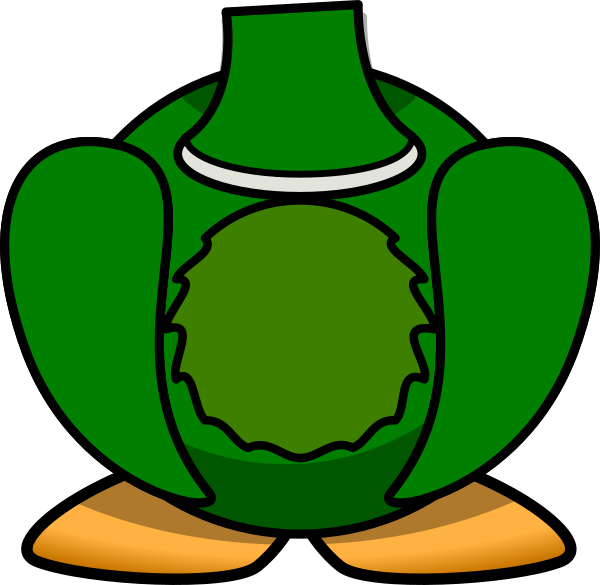 Green clip art at. Clipart duck body