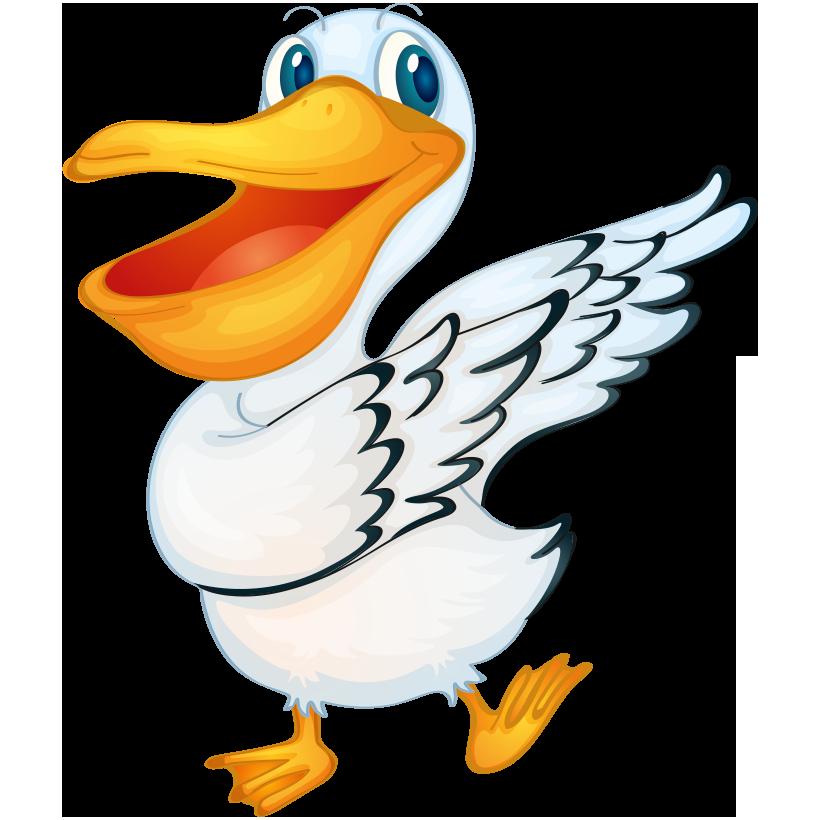 Ducks clipart painting. Pelican bird royalty free
