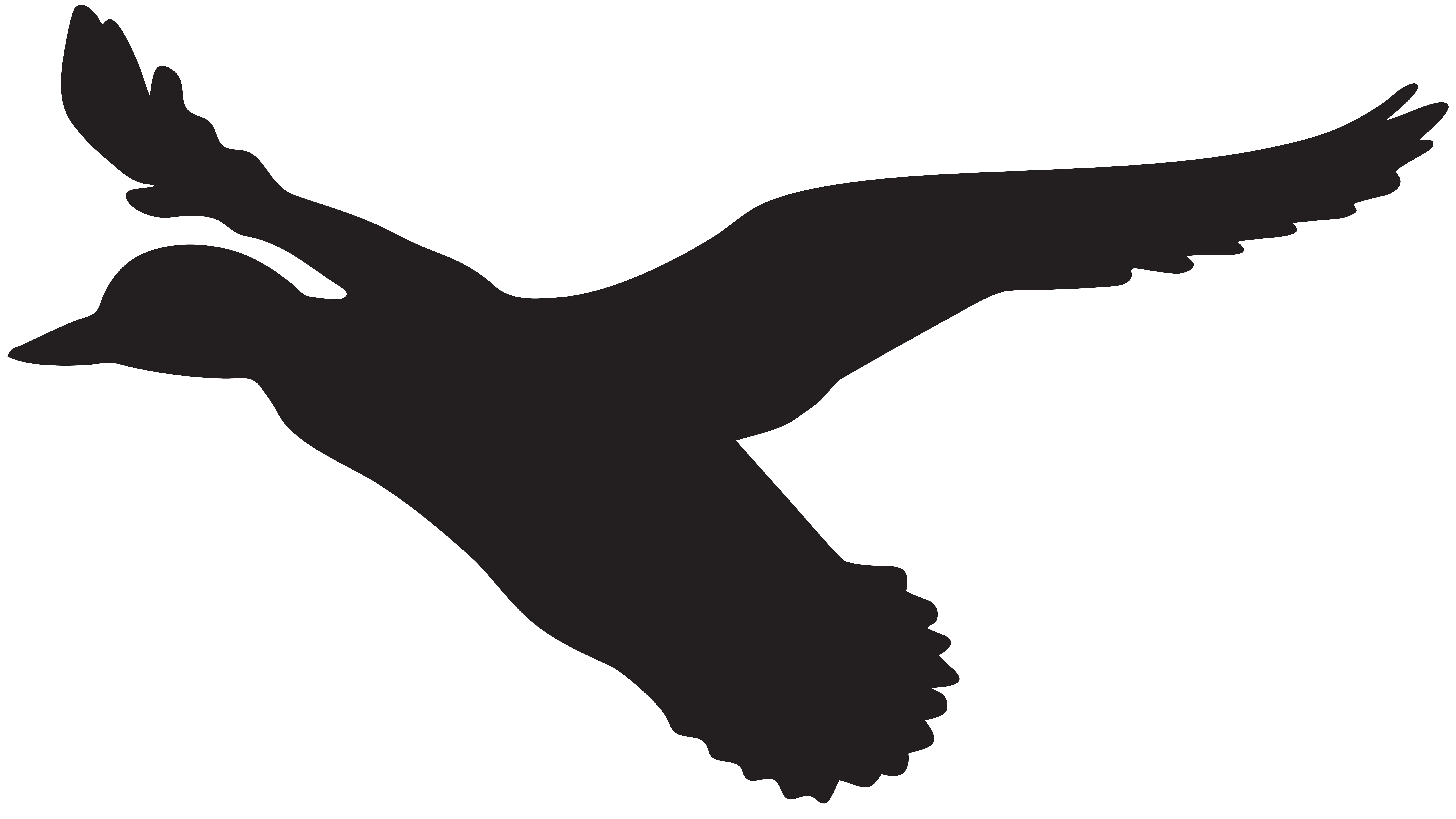 Hunting clipart car decal. Flying duck silhouette png