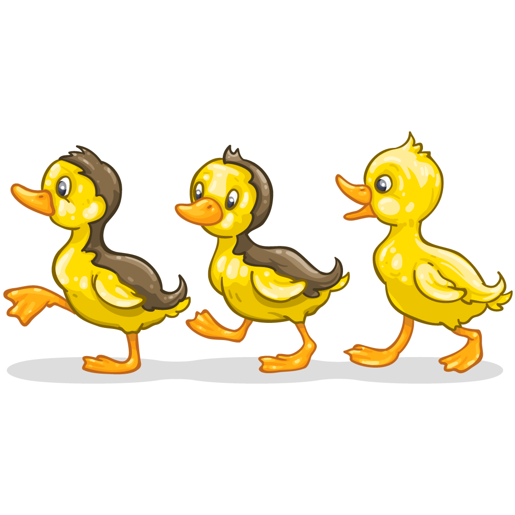 Ducks clipart duck waddle. Item detail ducklings itembrowser