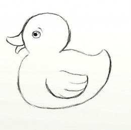 Ducks clipart easy. How to draw a