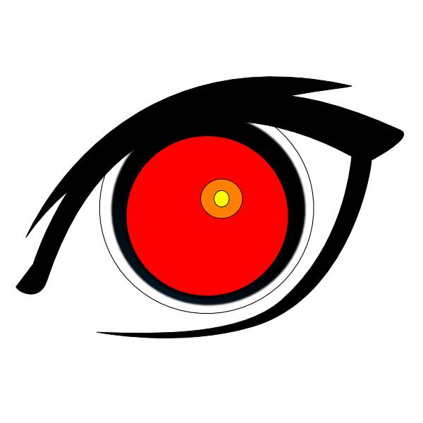Red eye clip art. Eyes clipart duck