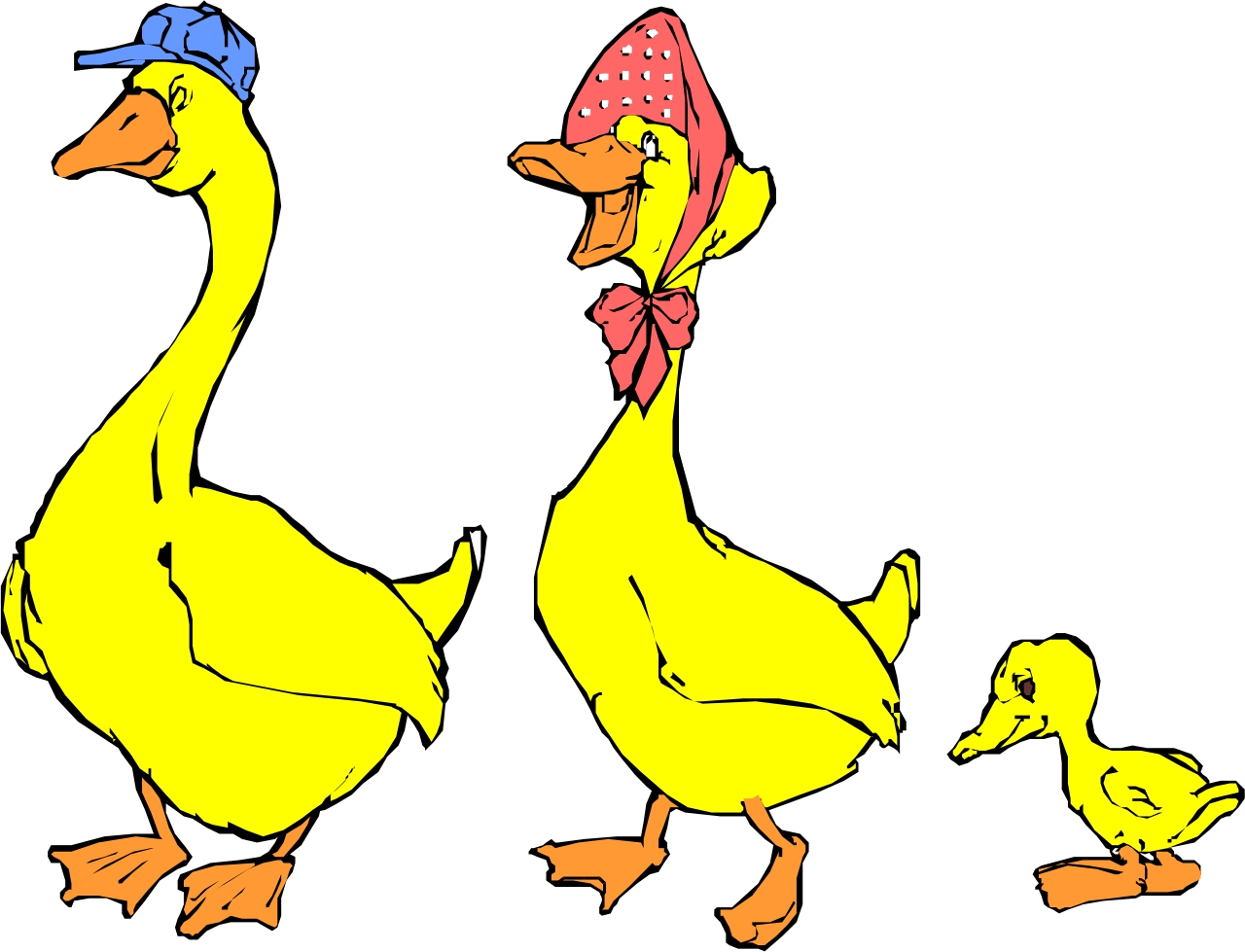 Free images of cartoon. Ducks clipart family