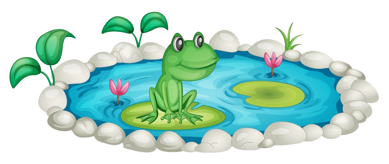Clipart grass pond. Frog clip art in