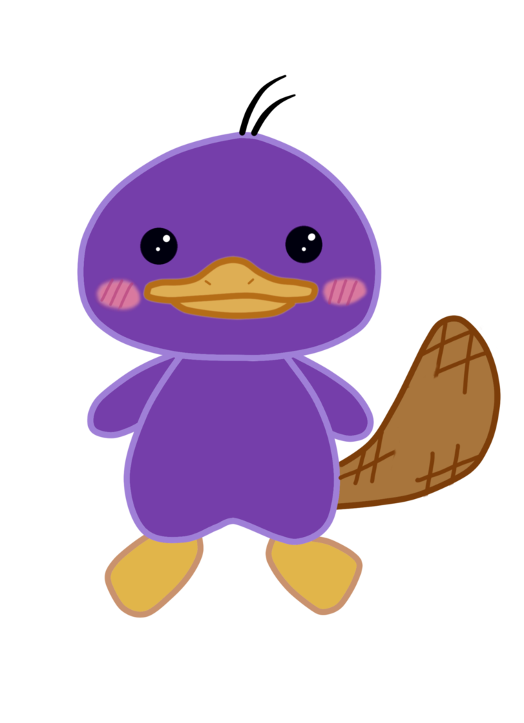 Ducks clipart kawaii. Platypus by elekmario on