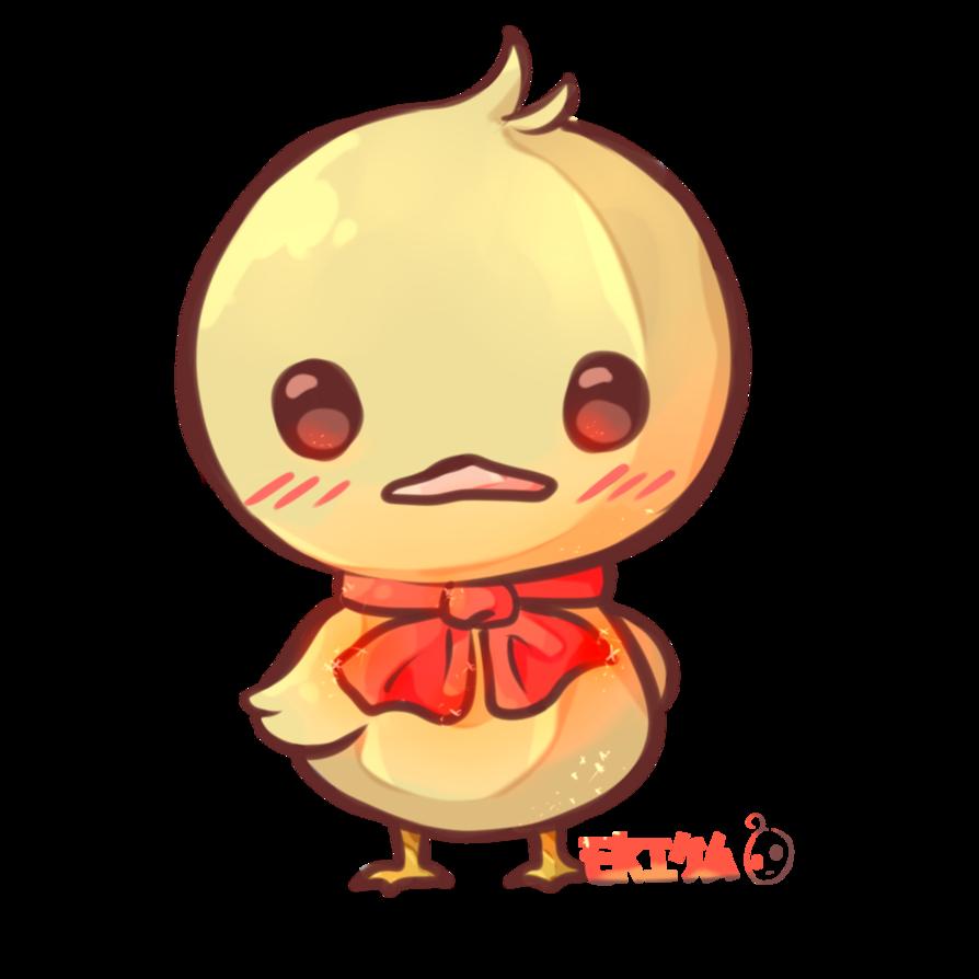Duck by dessineka on. Ducks clipart kawaii