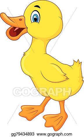 Vector art duck cartoon. Ducks clipart happy
