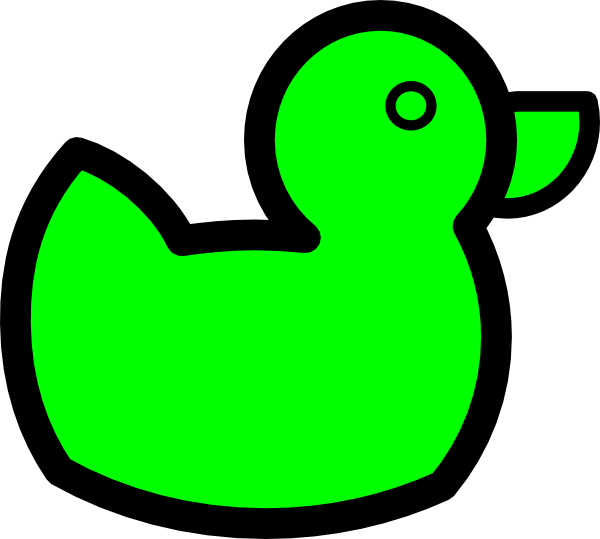 Duck clip art at. Ducks clipart green