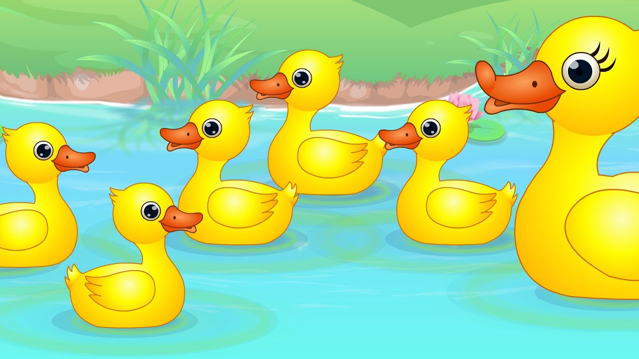 Five little nursery rhymes. Ducks clipart seven