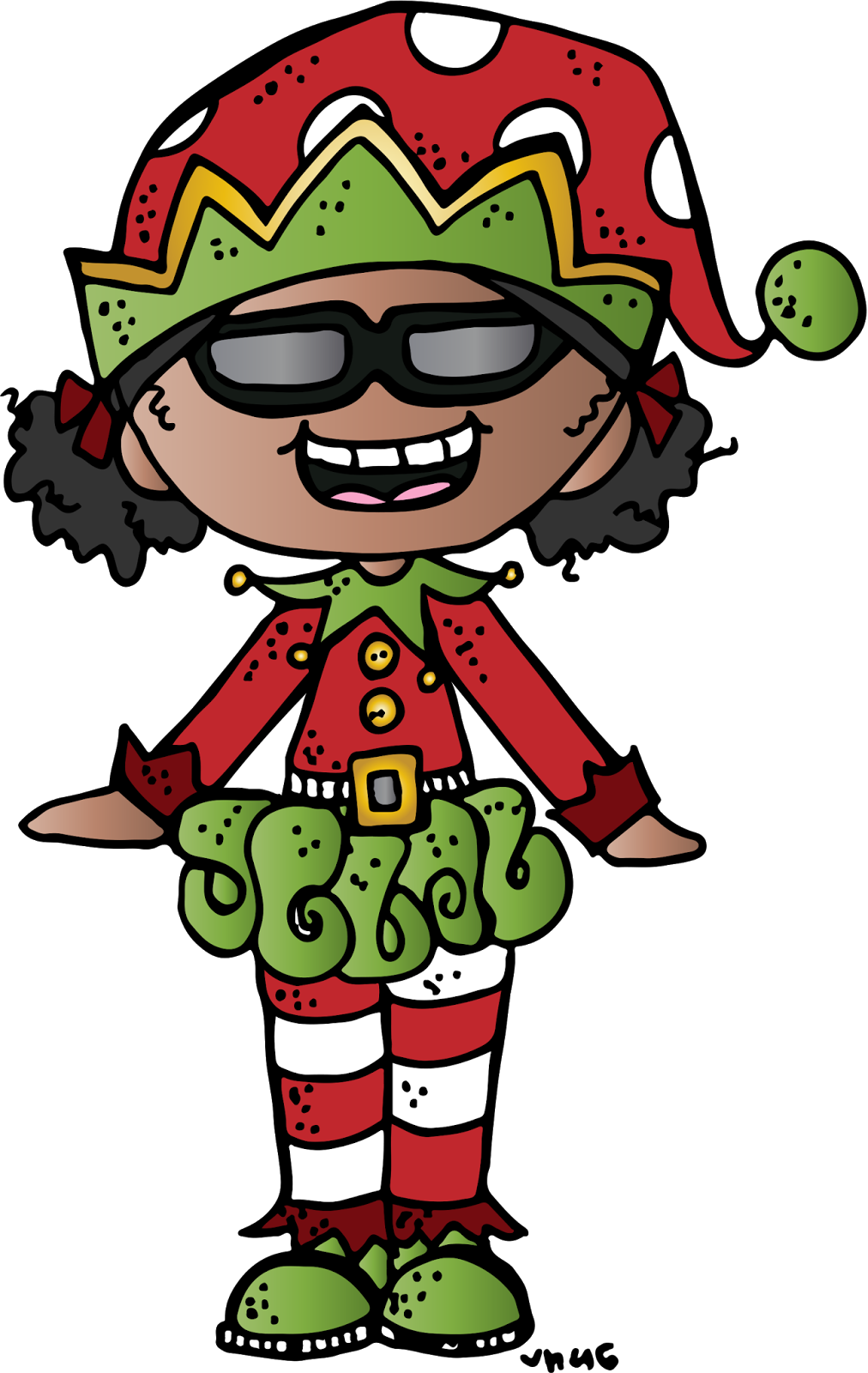 Watermelon clipart melonheadz. December happy holidays