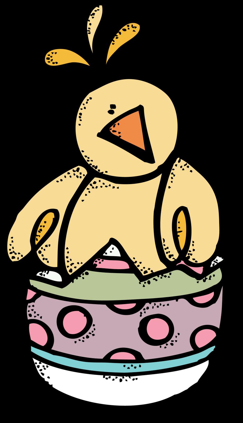 Easter chick. Melonheadz clipart camera