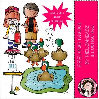 Melonheadz clipart duck. Feeding ducks clip art