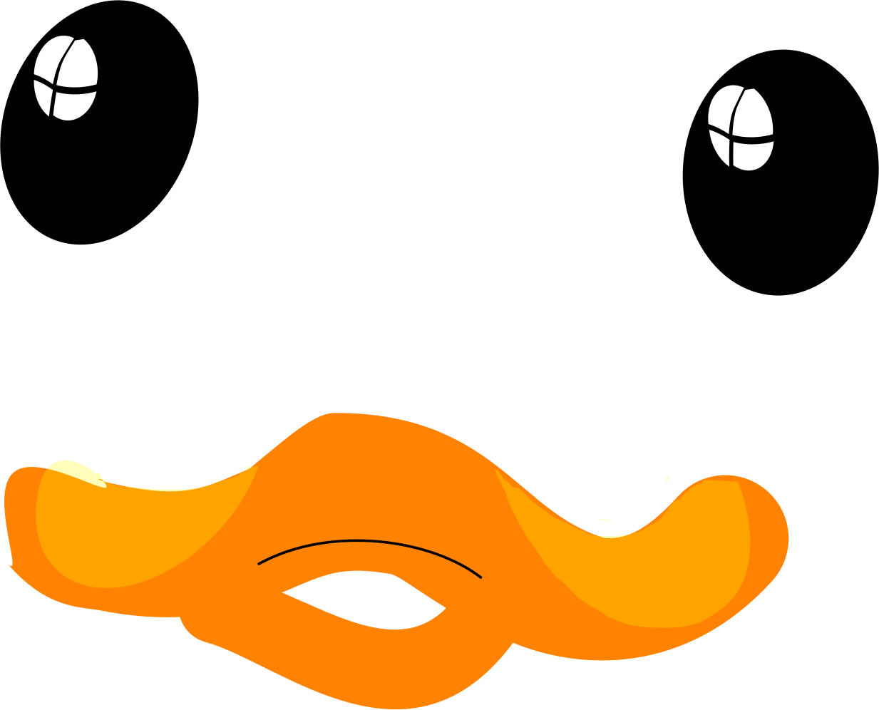 collection of face. Mouth clipart duck