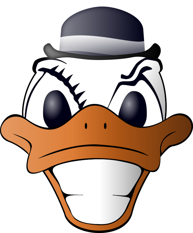 Mouth clipart duck. Clockwork panda free images