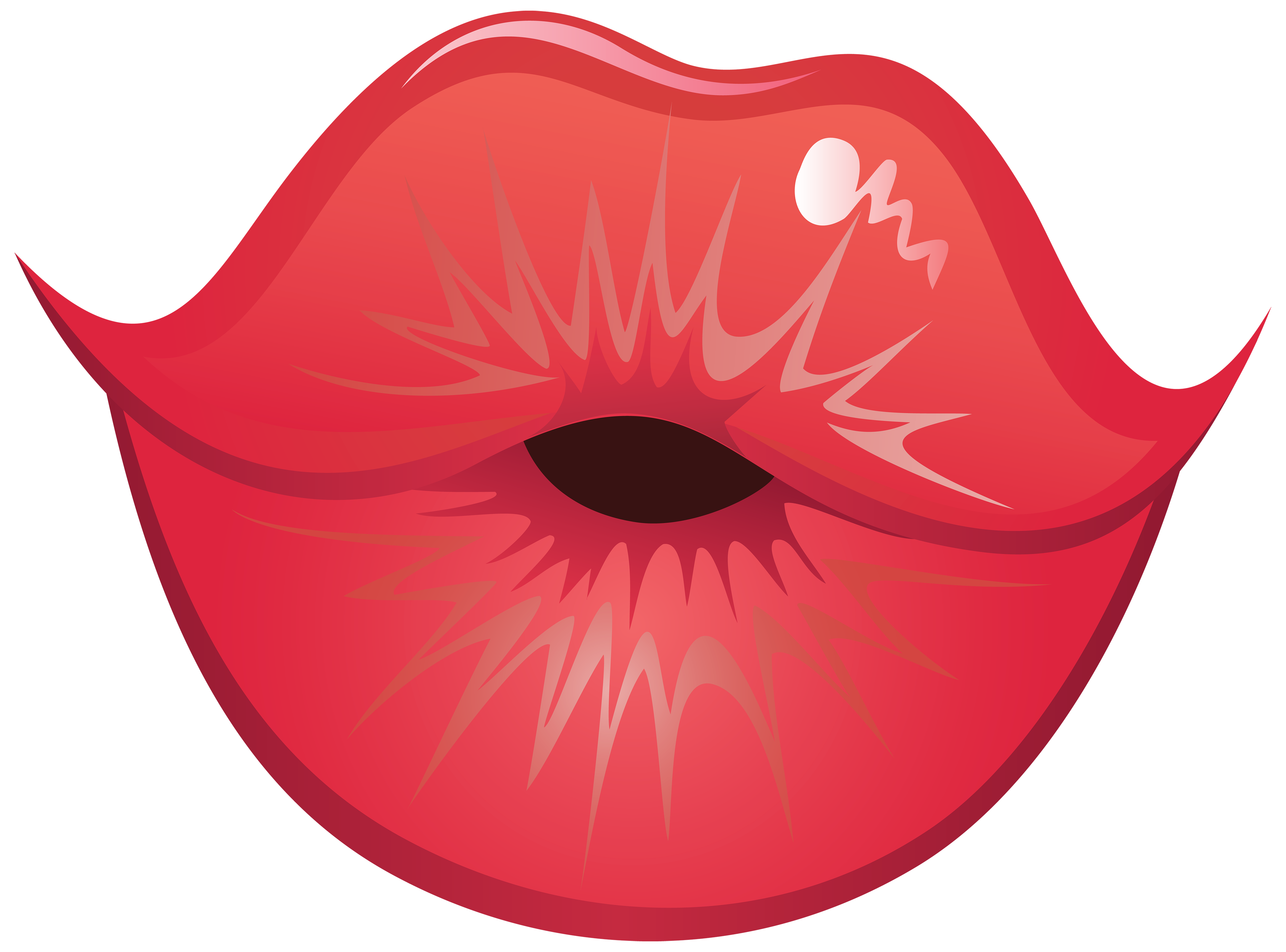 lip clipart stick template