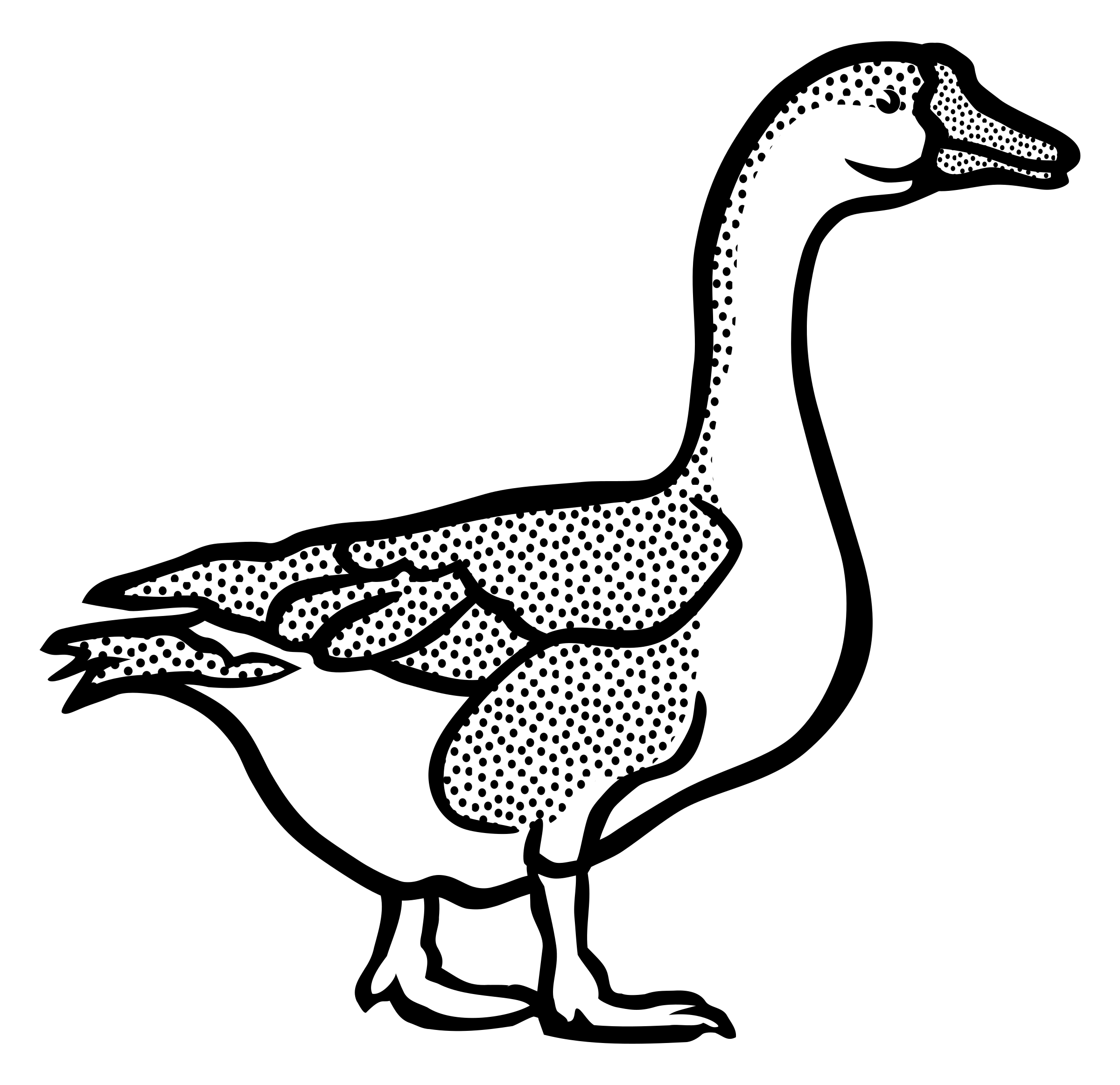 Ducks clipart coloring. Goose lineart big image