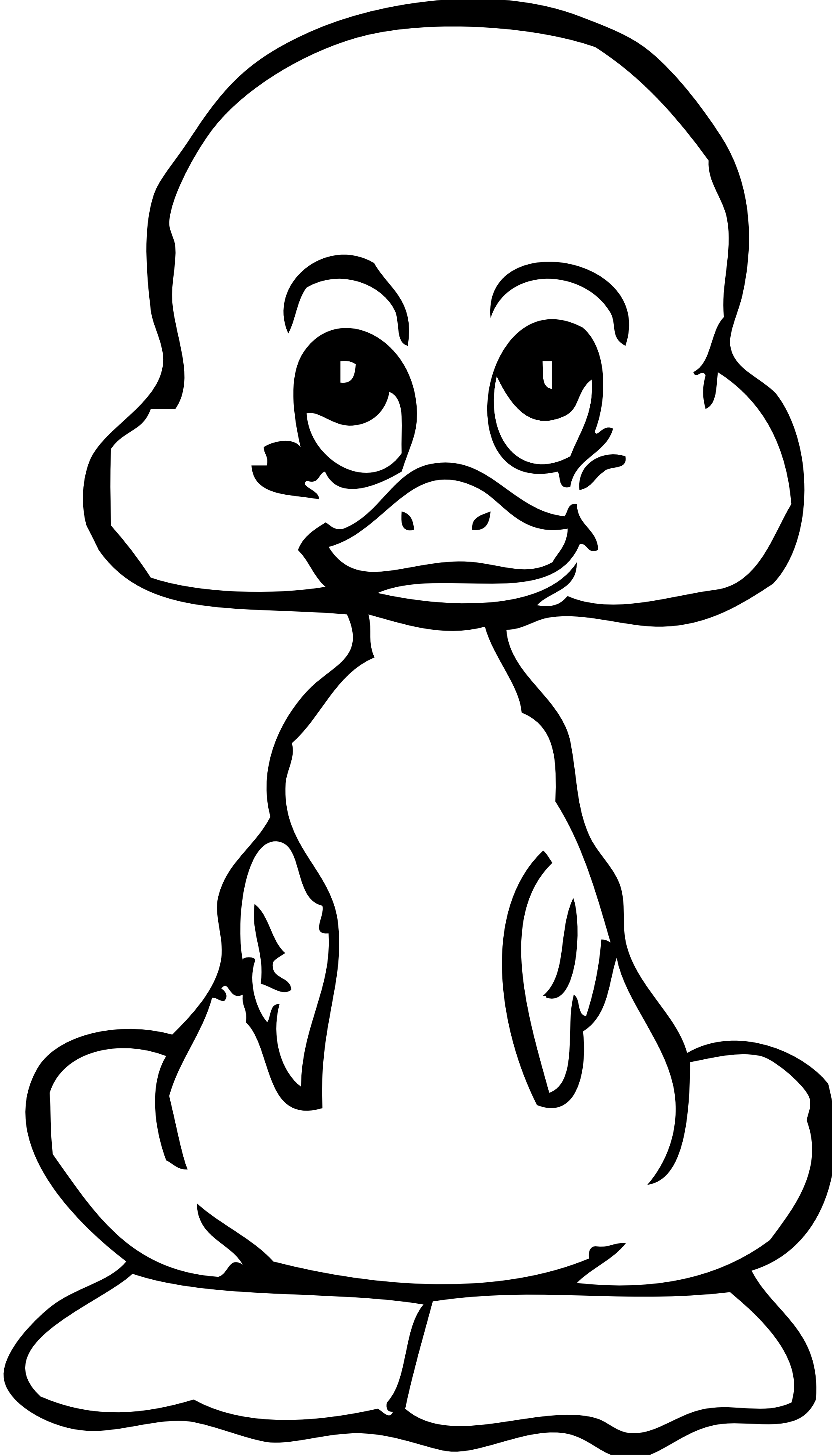 Pacifier clipart baby shower. Duck outline drawing at