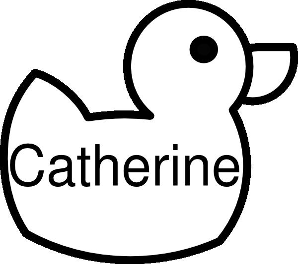 Catherine duck clip art. Ducks clipart coloring