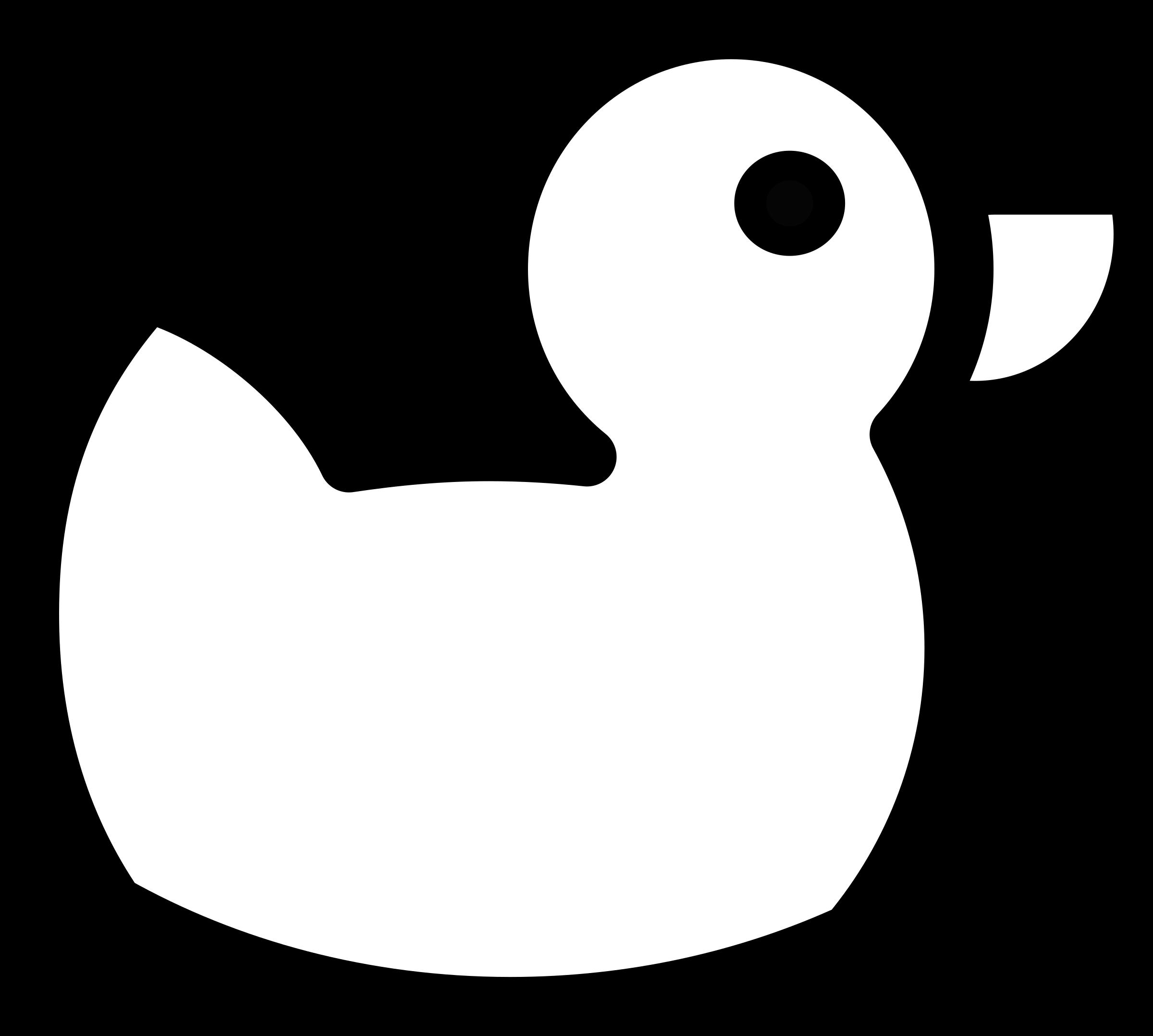 Outline big image png. Ducks clipart purple duck