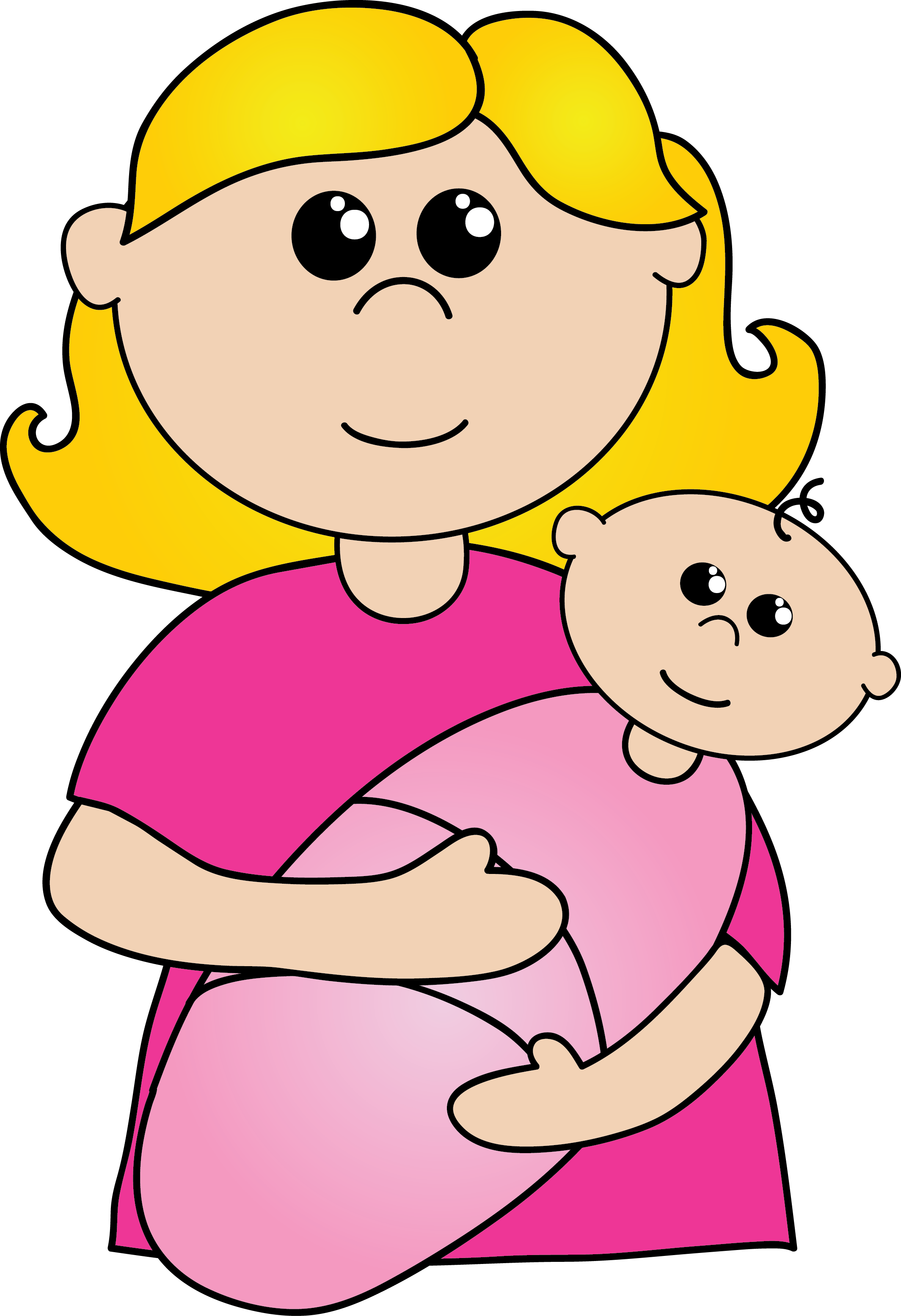 Mothers mother head frames. Clipart reading mom baby