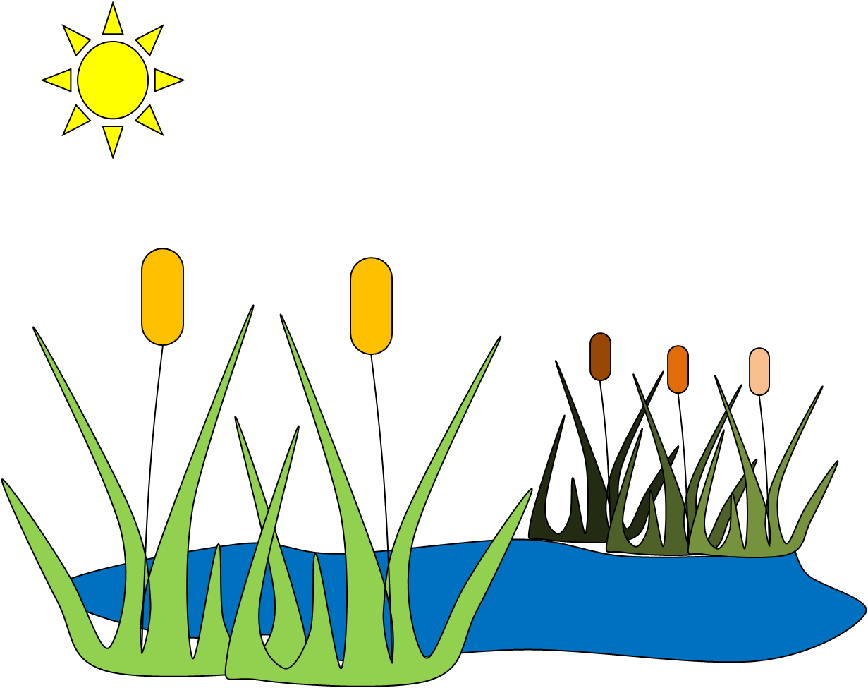 Clipart grass pond. C free images at
