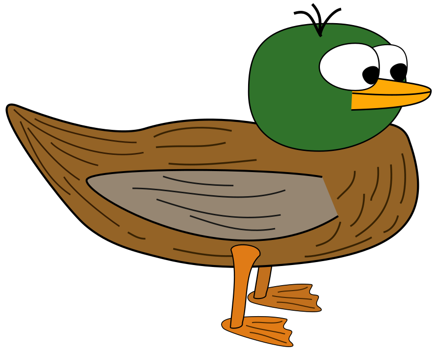 Duckling clipart mama duck. Free cartoon picture of