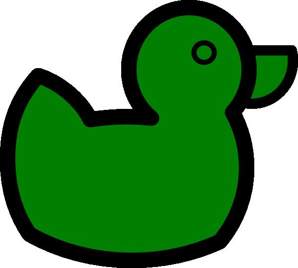 Green clip art at. Clipart duck small duck