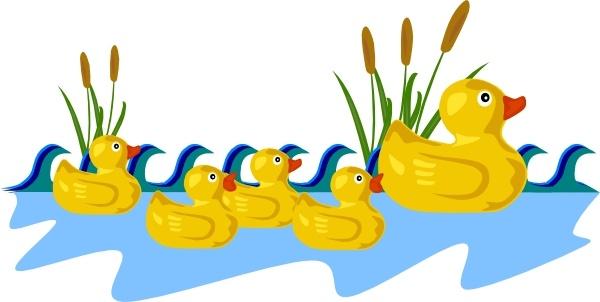 Ducks clipart swimming. Rubber duck family clip