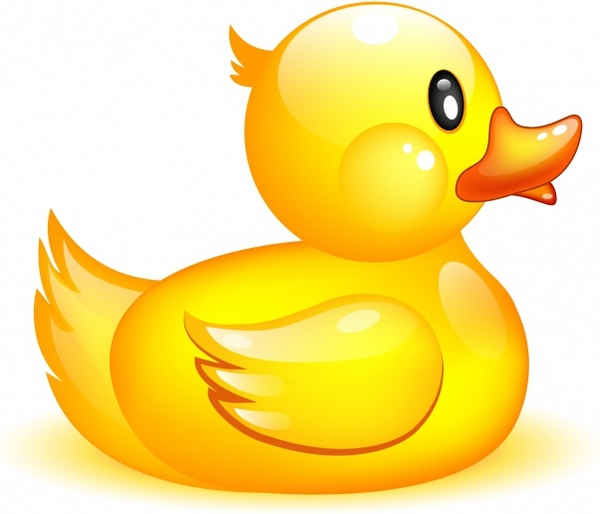 Rubber free in adobe. Clipart duck vector
