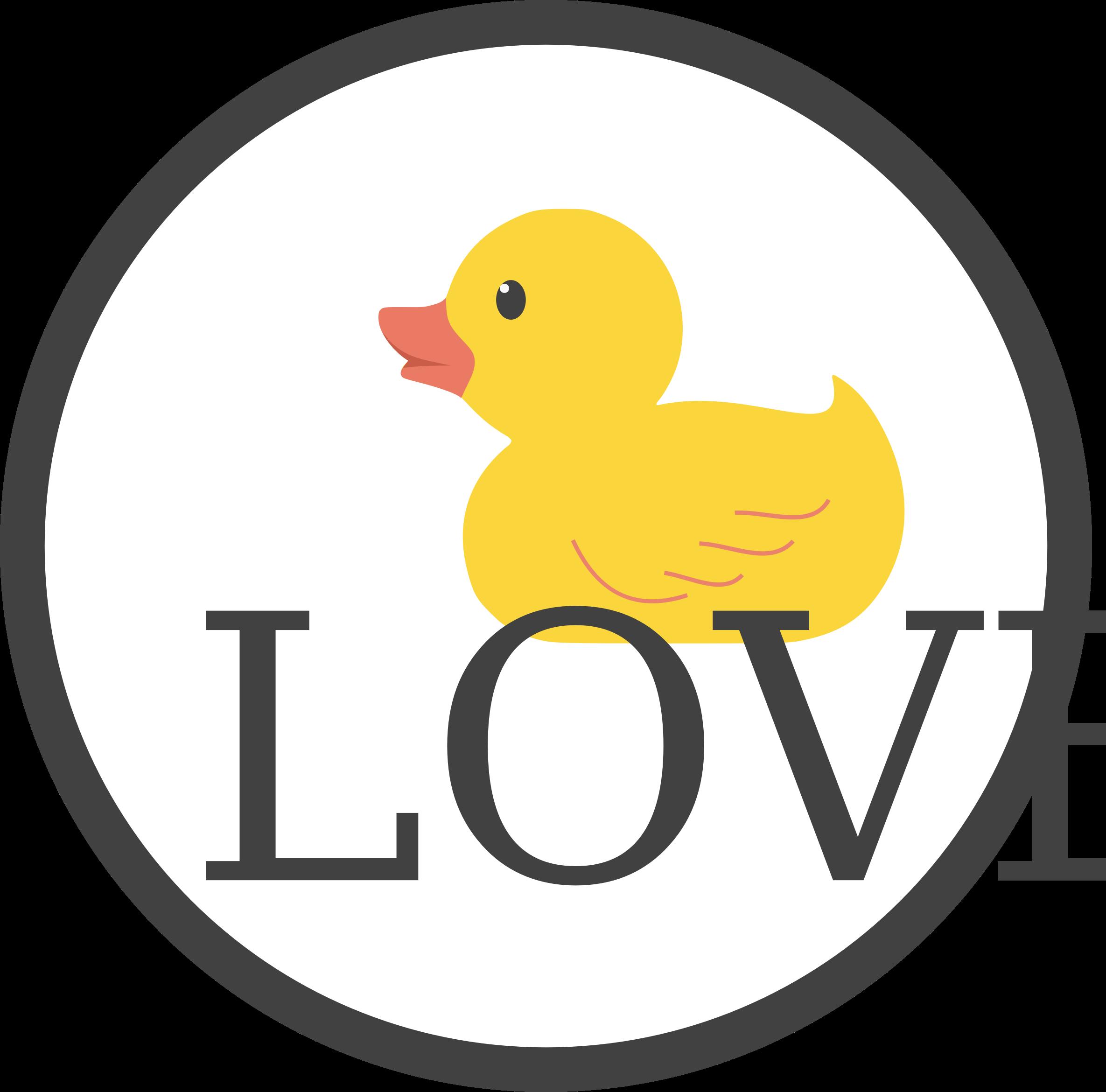 Duck love big image. Ducks clipart yellow