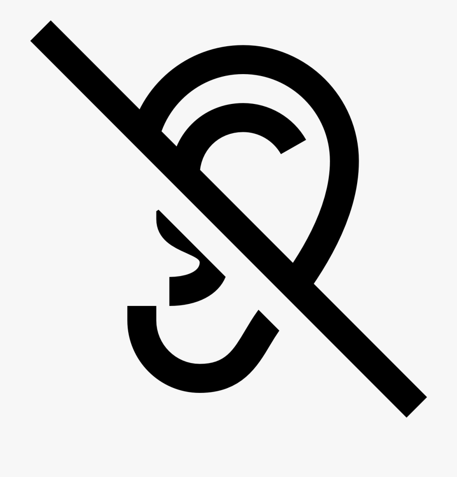 Deaf icon png free. Ears clipart auditory
