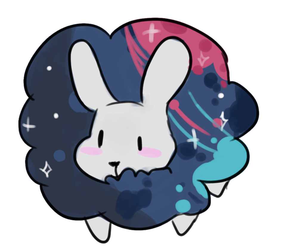 Galaxy by knithic on. Ear clipart blue bunny