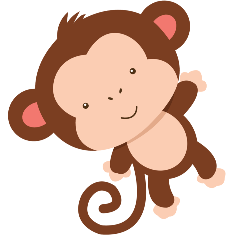 jungle clipart two monkey