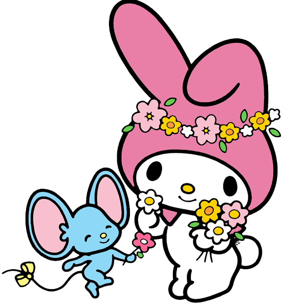 My melody clip art. Piano clipart cute