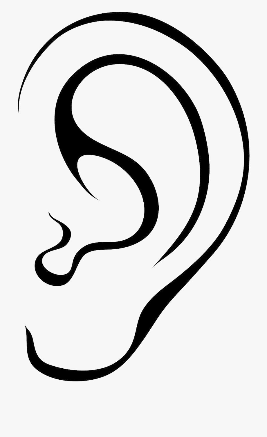Clipart ear cartoon clip art. Black transparent png of