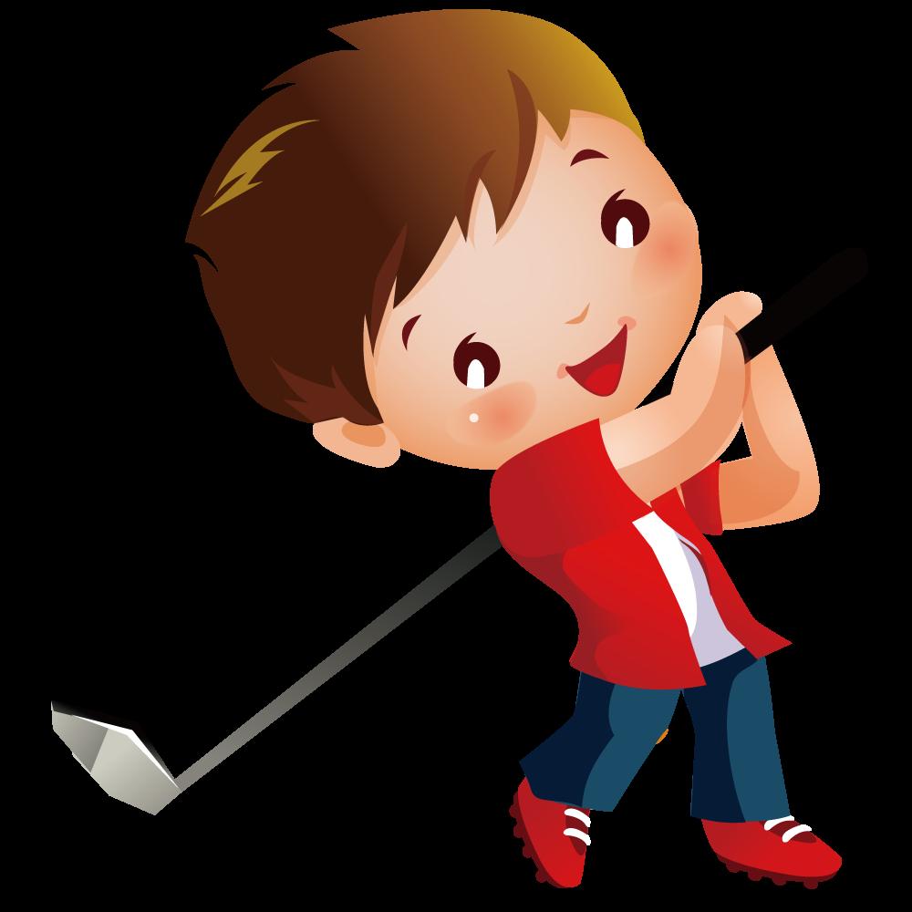 Miniature golf course clip. Golfing clipart child