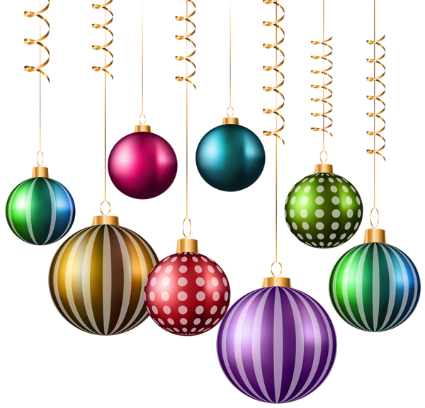 Clipart ear christmas. Balls png transparent image