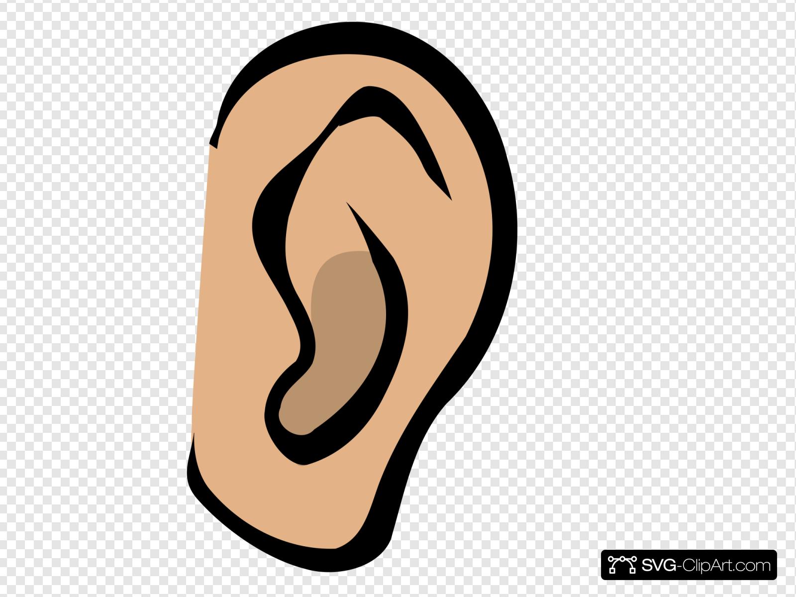 Ear clipart svg. Body part clip art