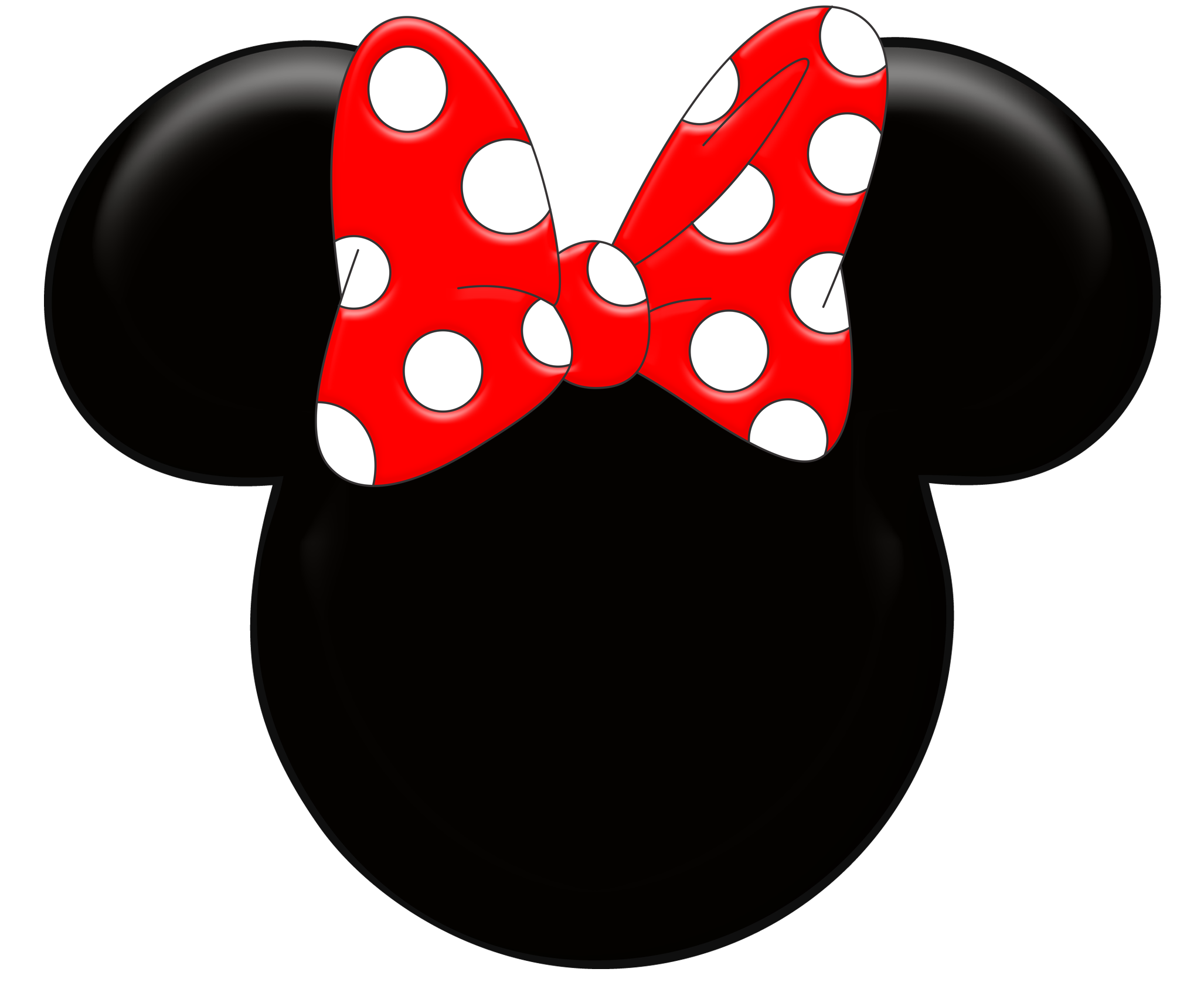 Mickey ears silhouette at. Computer clipart face