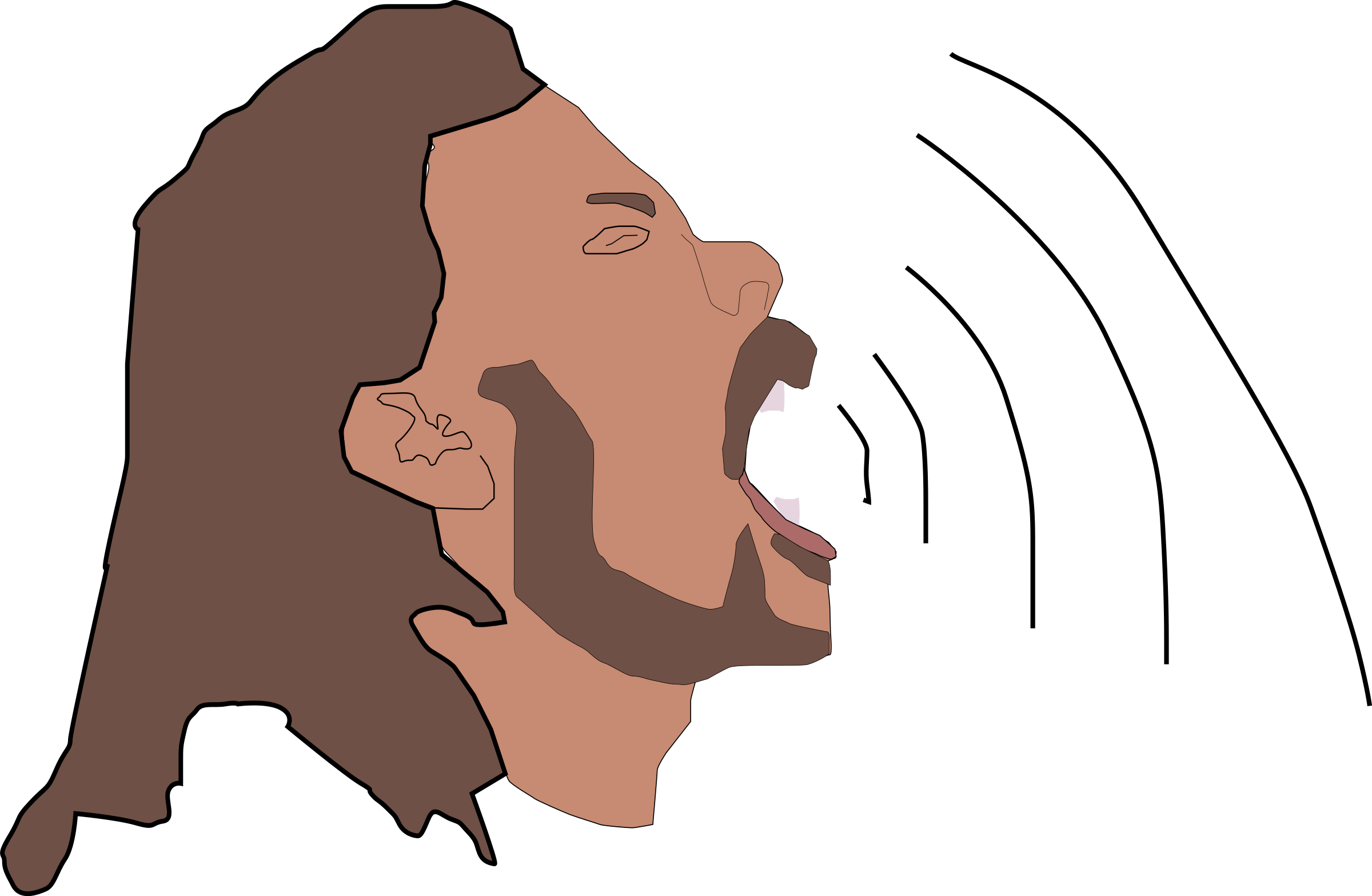 Yelling clipart screamed. Sing big image png